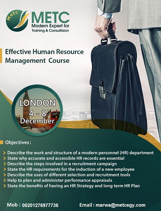 Effective Human Resource Management course 591057989