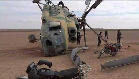سقوط طائرة الهليكوبتر نوع m 17 أثناء التدريب واستشهاد كل طاقمها المكون من سبعة أشخاص