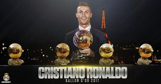 كريستيانو رونالدو يفوز بجائزة الكرة