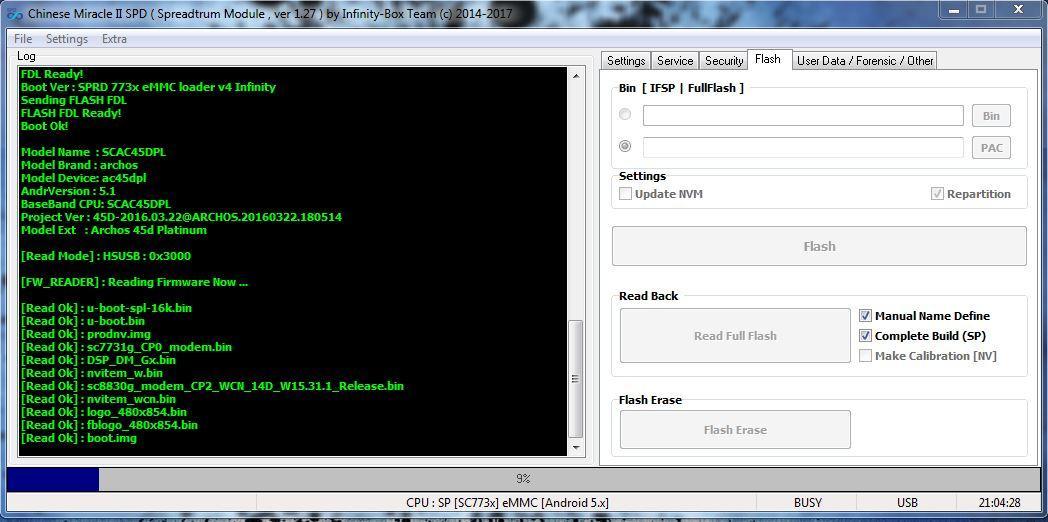 حصري فلاشة بصيغة   Archos 45d Platinum-SPRD 773x5.1... PAC