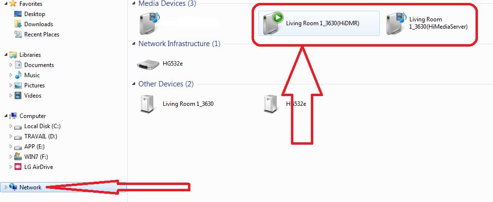طريقة الاتصال بين الحاسوب وأجهزة الاستقبال الاندرويد باستخدام تقنية UPnP