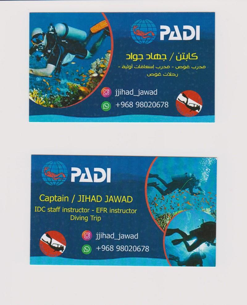 PADI scuba dive courses and dive trips in oman muscat