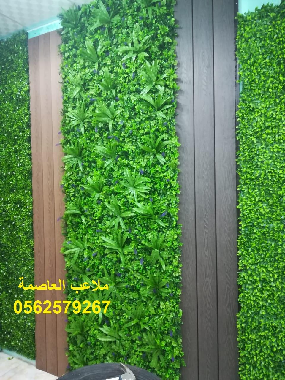 ديكورات عشب صناعي مؤسسه ملاعب العاصمة عشب جداري ديكورات حجريه 0562579267 220547042