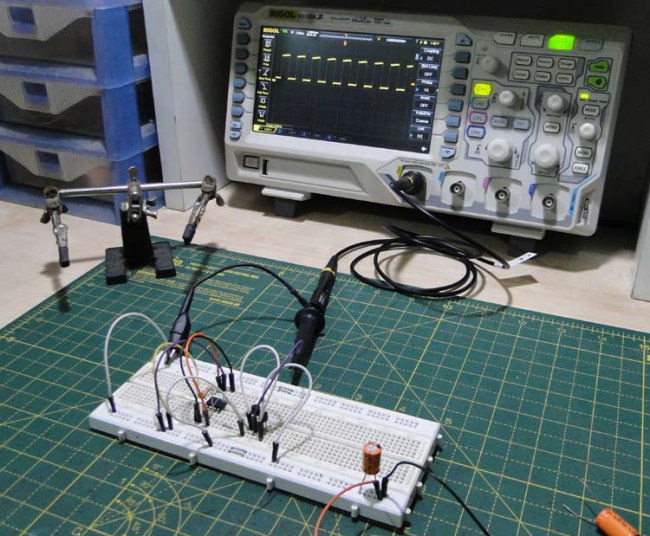 Capacitor ESR measurement circuit (NE555)