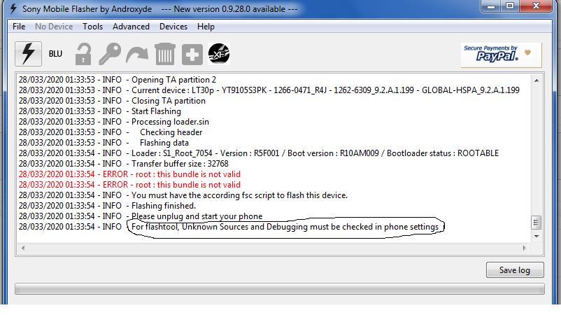 Sony lt30p مساعدة