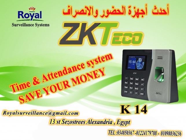 نظام حضور وانصراف ماركة ZK Teco  موديل K14 365849067