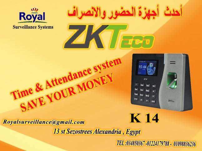 ماكينات حضور وانصراف ماركة ZK Teco  موديل K14 394407769